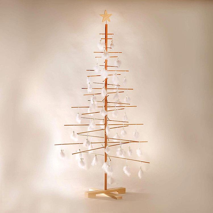 Modello di albero di Natale moderno in legno n.01