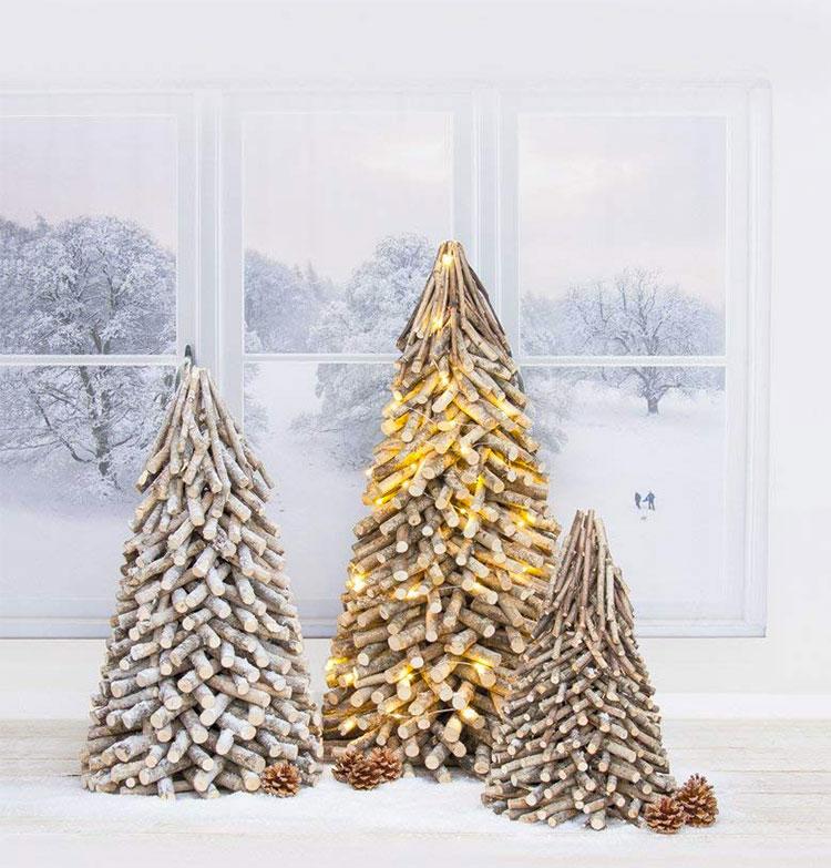Modello di albero di Natale moderno in legno n.02