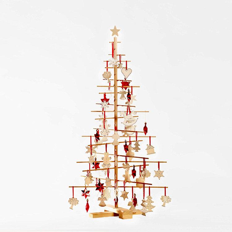 Modello di albero di Natale moderno in legno n.03