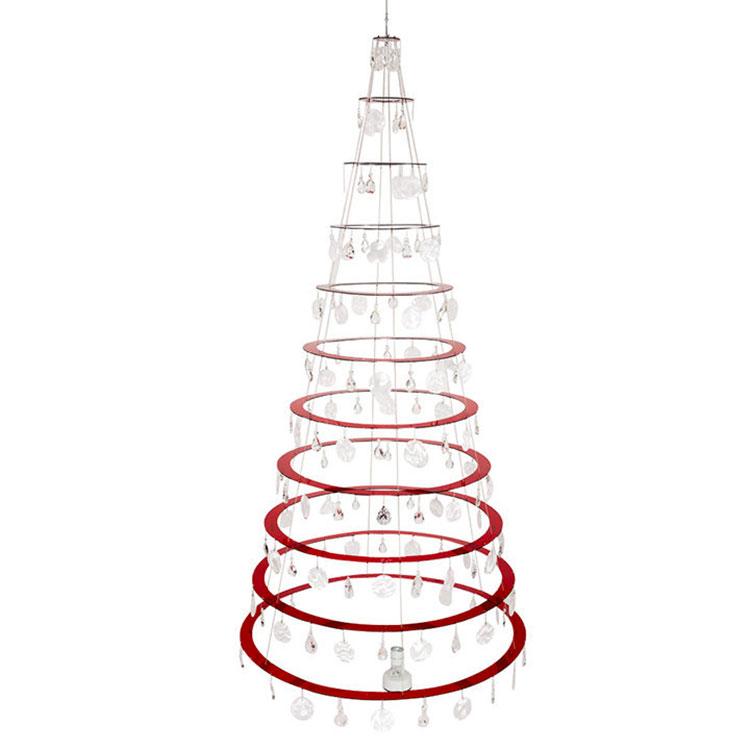 Modello di albero di Natale moderno a spirale n.03