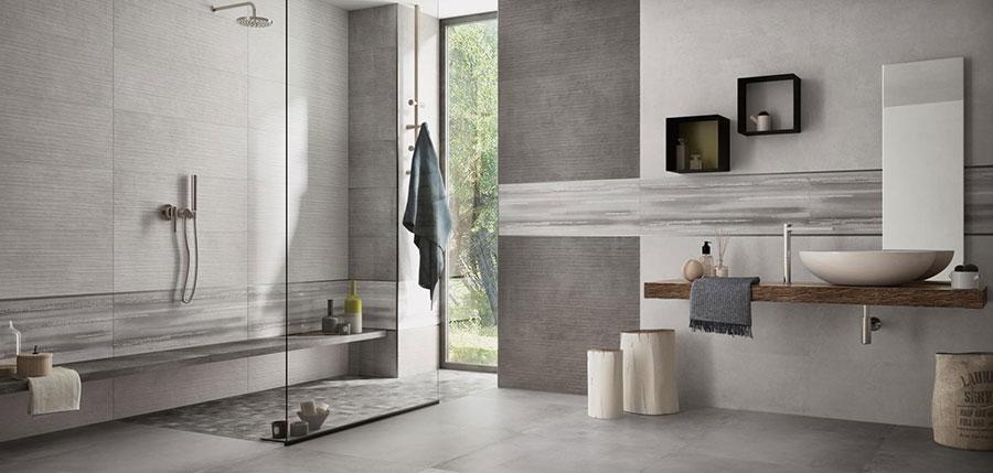 Pavimenti per bagno effetto cemento n.01