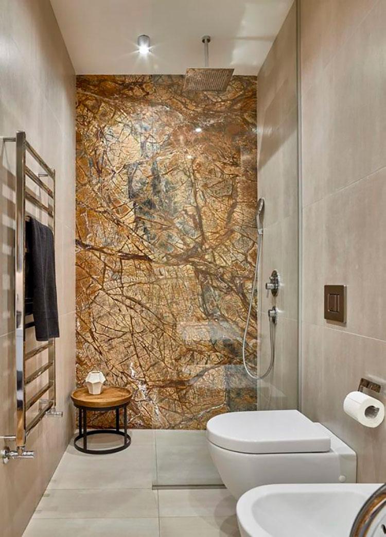 Bagno con rivestimenti in marmo particolare 02