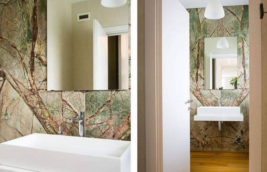 Bagno con rivestimenti in marmo particolare 04