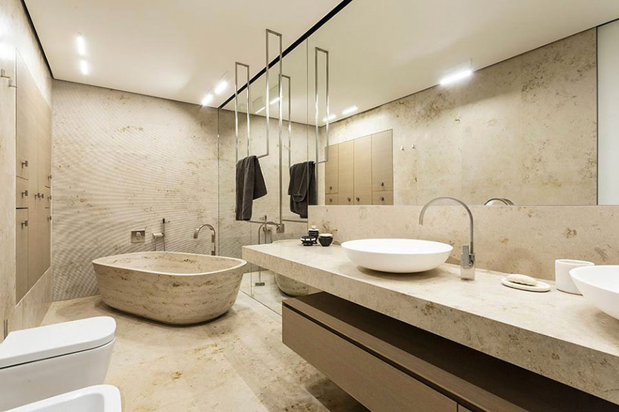 Bagno in travertino 01