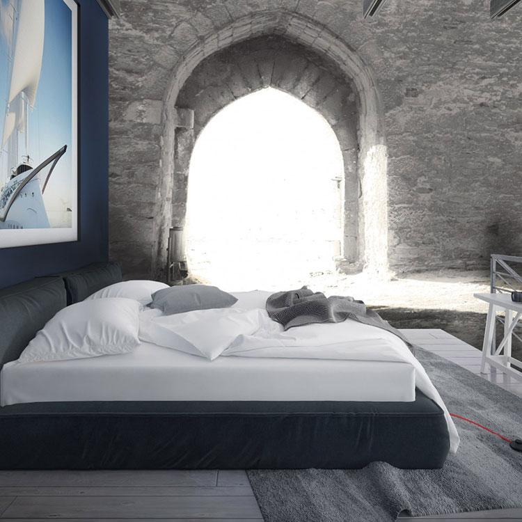 Modello di carta da parati 3D per camera da letto n.06