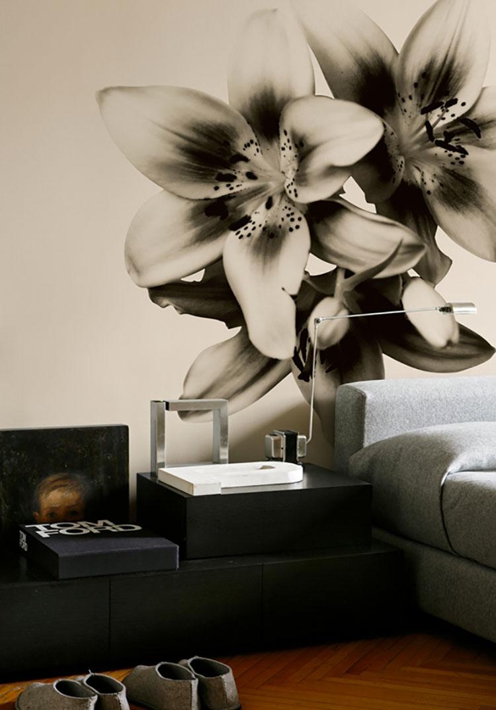 Modello di carta da parati floreale per camera da letto n.02