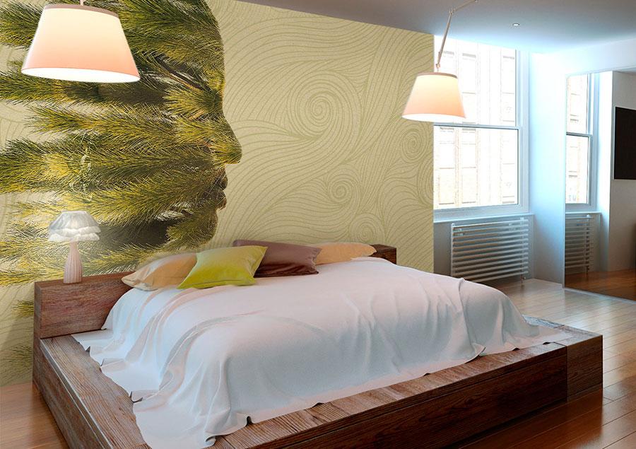 Modello di carta da parati moderna per camera da letto n.01