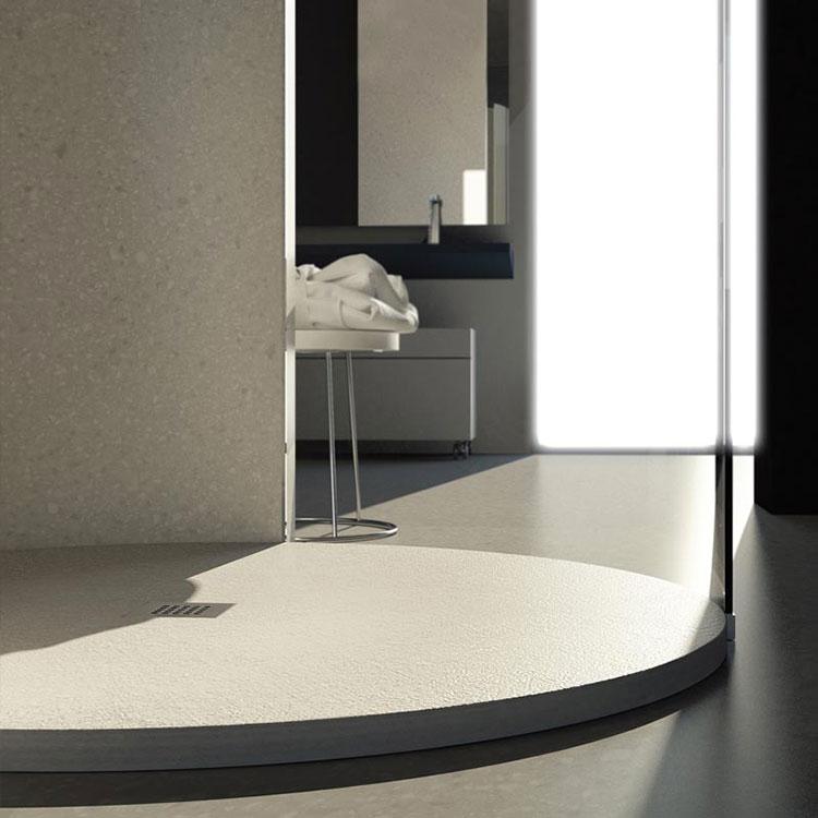 Modello di doccia per bagno effetto cemento n.01