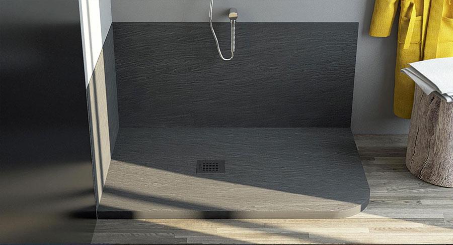 Modello di doccia per bagno effetto cemento n.02