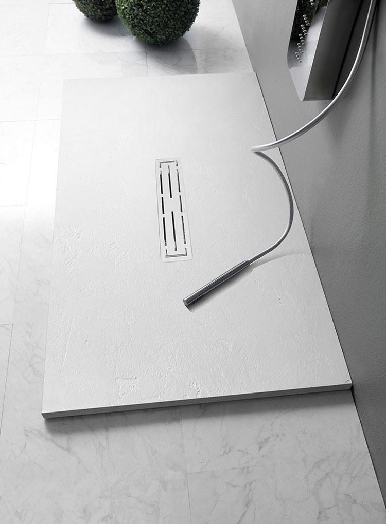 Modello di doccia per bagno effetto cemento n.04