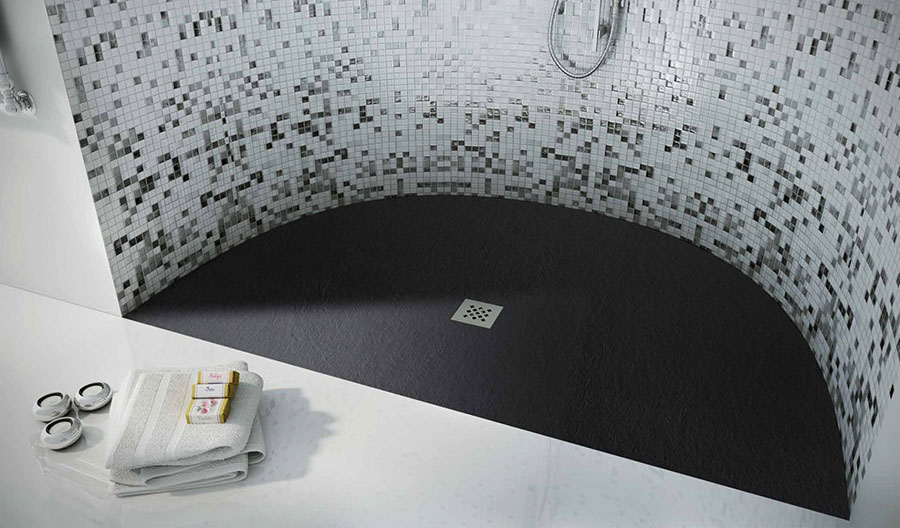 Modello di doccia a filo pavimento n.13