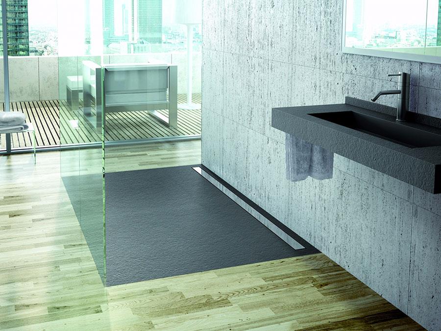 Modello di doccia a filo pavimento n.15