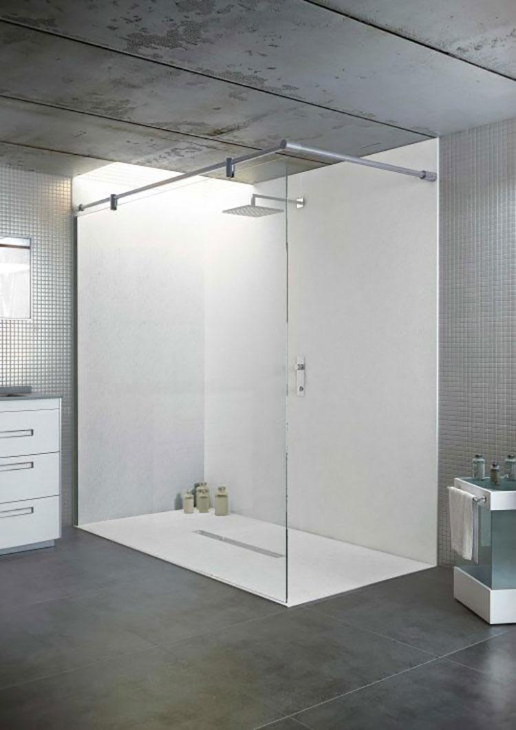 Modello di doccia a filo pavimento n.16