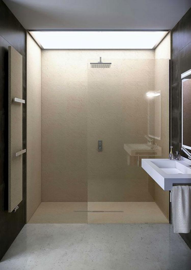 Modello di doccia a filo pavimento n.17