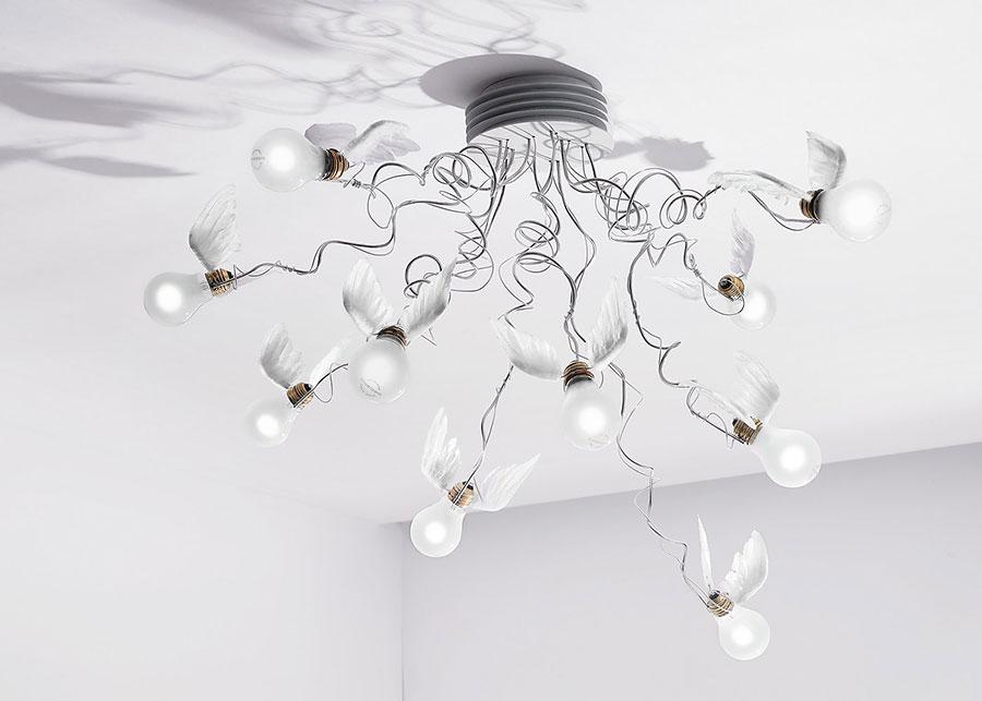 Modello di lampadario marca Ingo Maurer n.01