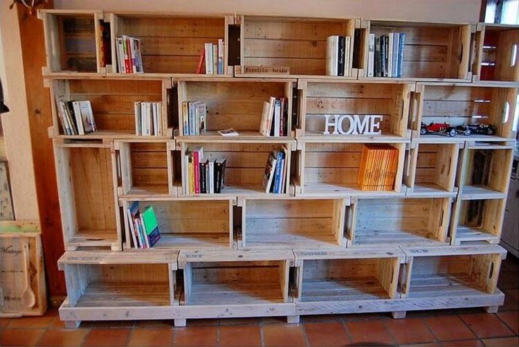 Come costruire una libreria fai da te con cassette della frutta n.2