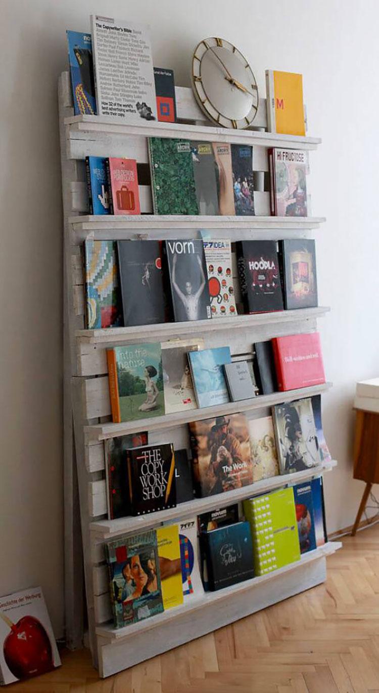 Come costruire una libreria fai da te con pallet n.4