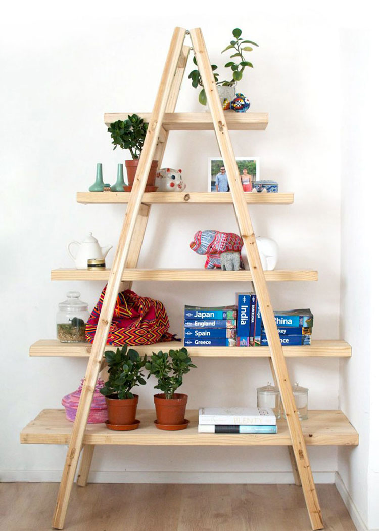 Come costruire una libreria fai da te con scale n.1