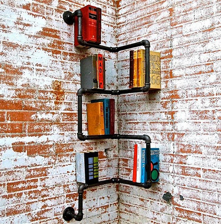 Come costruire una libreria fai da te con tubi idraulici n.1