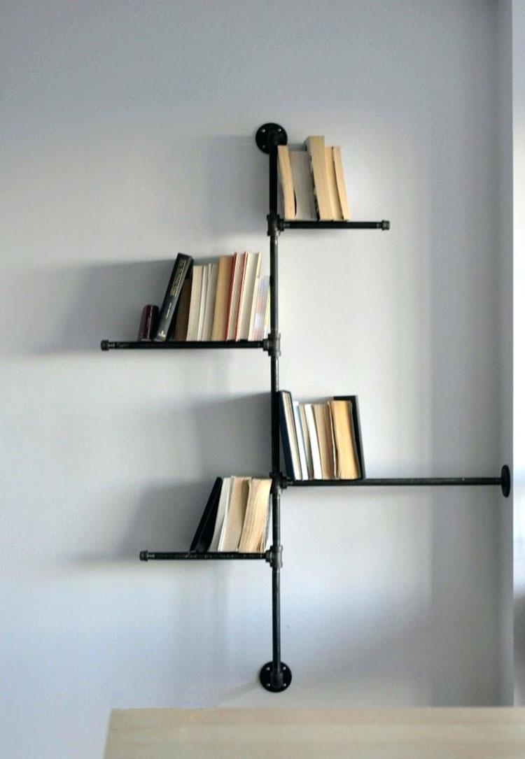 Come costruire una libreria fai da te con tubi idraulici n.2