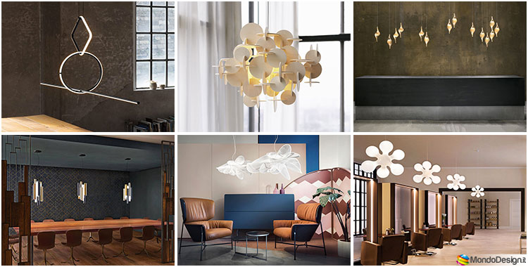 Modelli di lampadari di design per la sala da pranzo