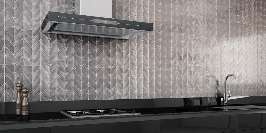 Idee per paraschizzi cucina in acciaio decorato n.02
