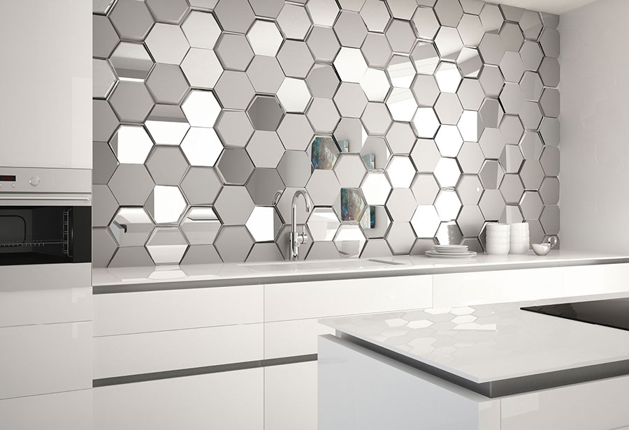 Idee per paraschizzi cucina in acciaio decorato n.05