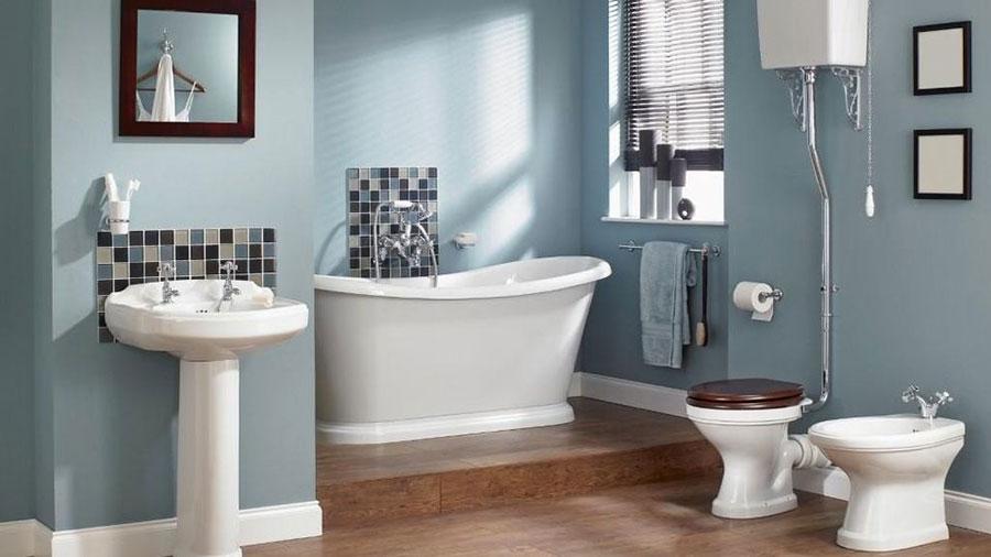 Idee per dipingere le pareti del bagno carta da zucchero 3