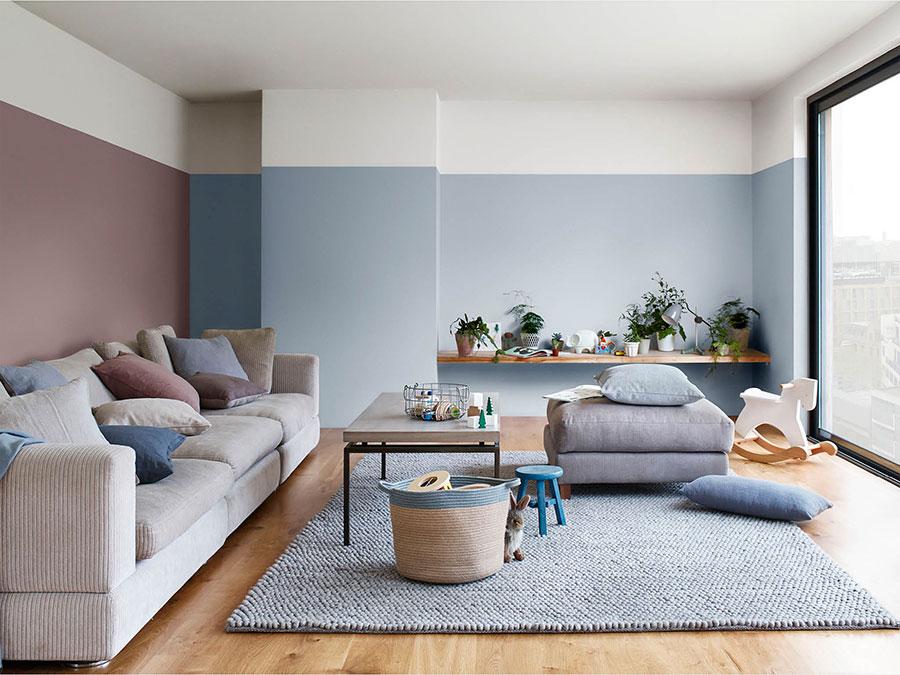 Idee per dipingere le pareti del soggiorno carta da zucchero 3