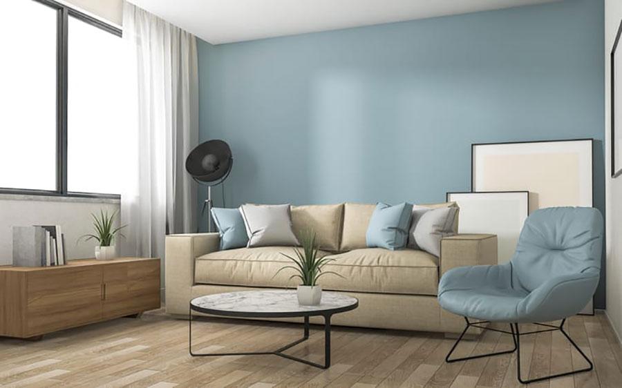 Idee per dipingere le pareti del soggiorno carta da zucchero 5