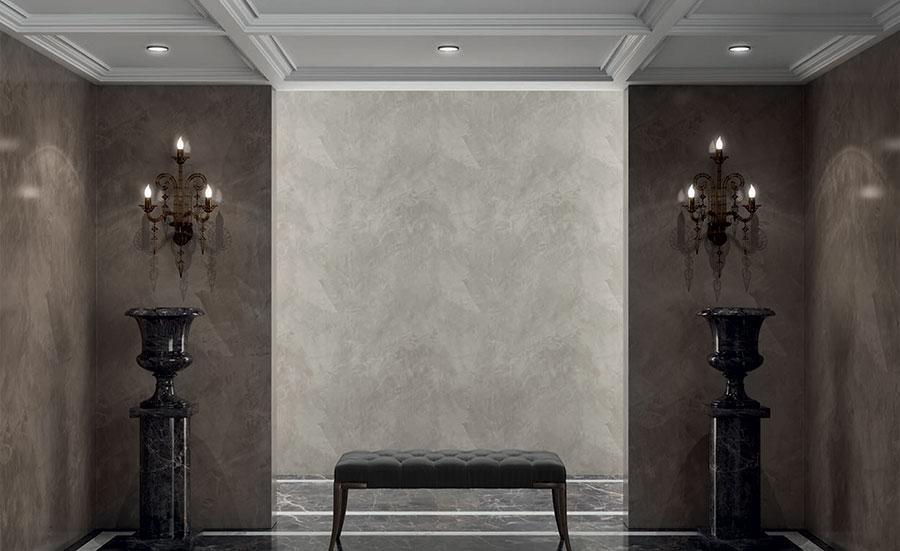 Pareti con pittura effetto stucco lucido 02