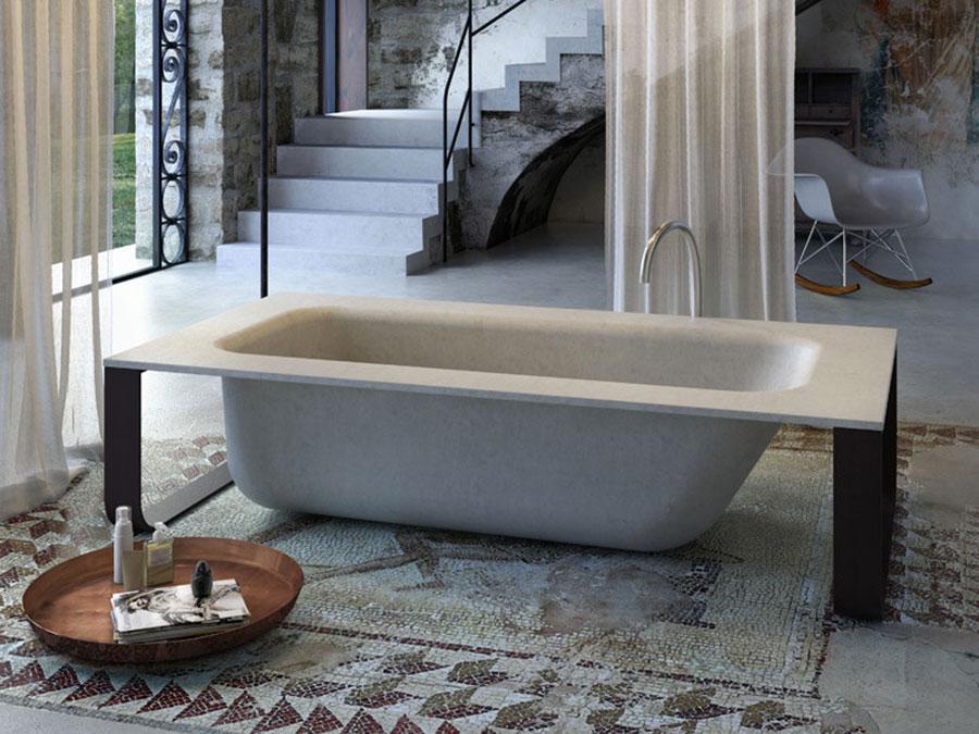 Modello di vasca da bagno effetto cemento n.01