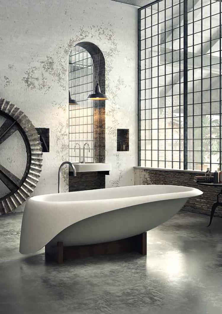 Modello di vasca da bagno effetto cemento n.02