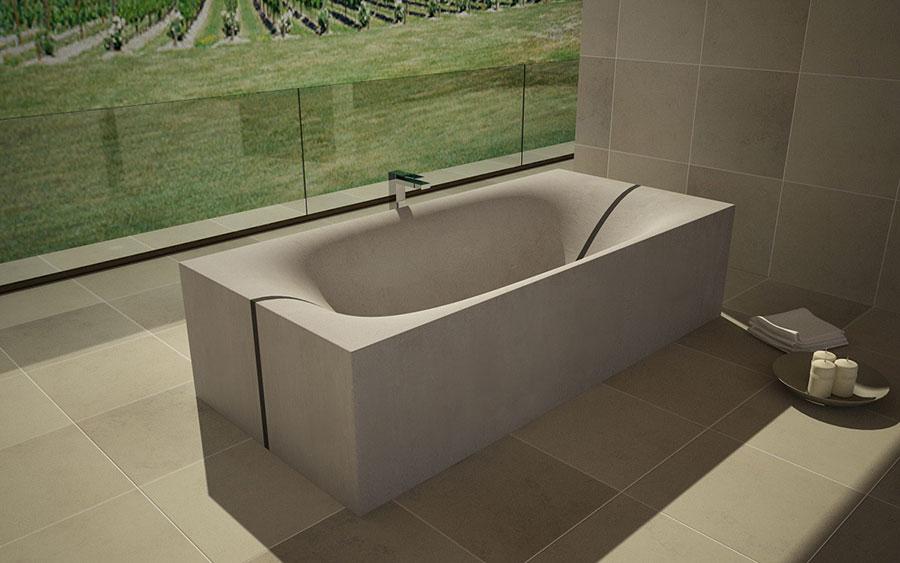 Modello di vasca da bagno effetto cemento n.04