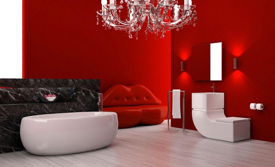 Pareti e rivestimenti per bagno rosso 02