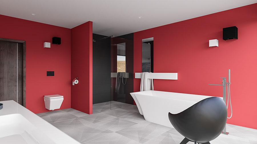 Pareti e rivestimenti per bagno rosso 03