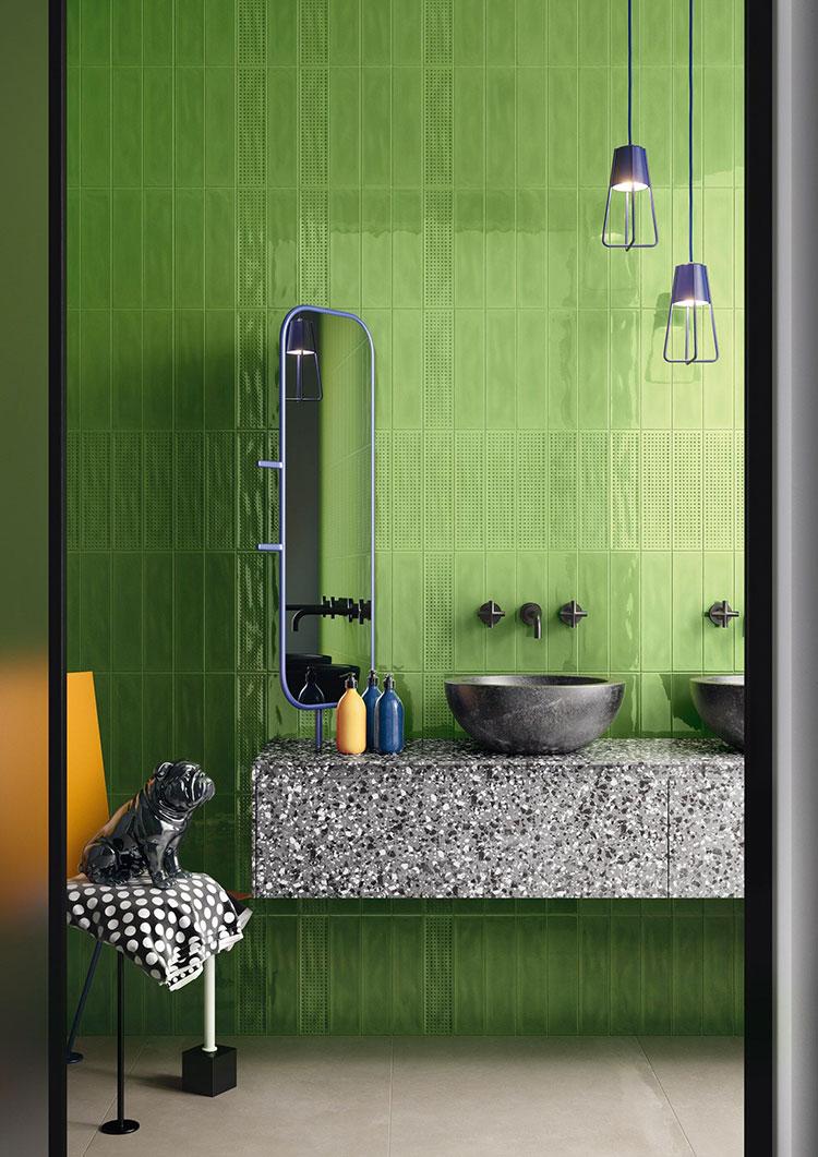 Idee per un bagno verde