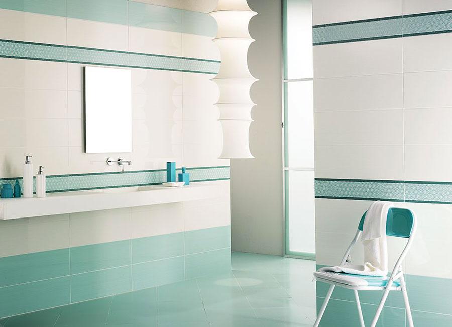 Idee per un bagno verde acqua 2