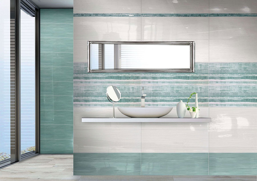 Idee per un bagno verde acqua 3