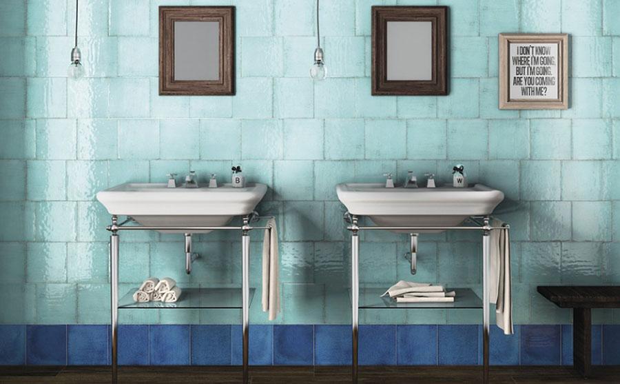 Idee per un bagno verde acqua 5