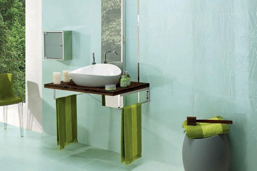 Idee per un bagno verde acqua 7