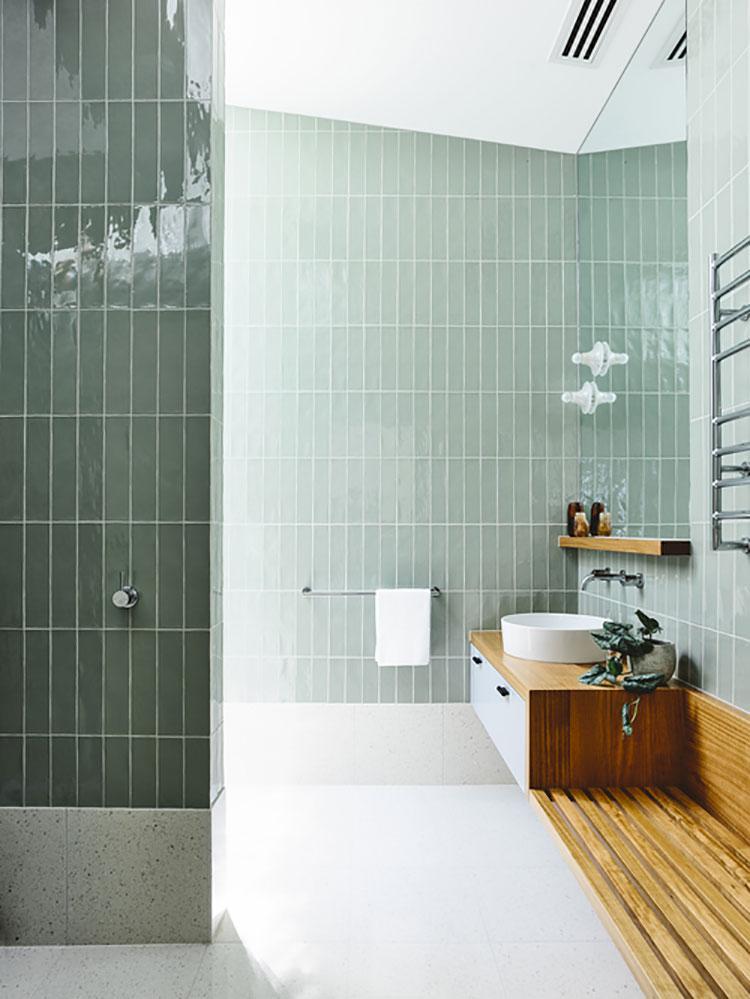Idee per un bagno verde acqua 8