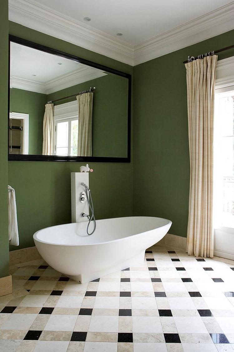 Idee per un bagno verde scuro 2