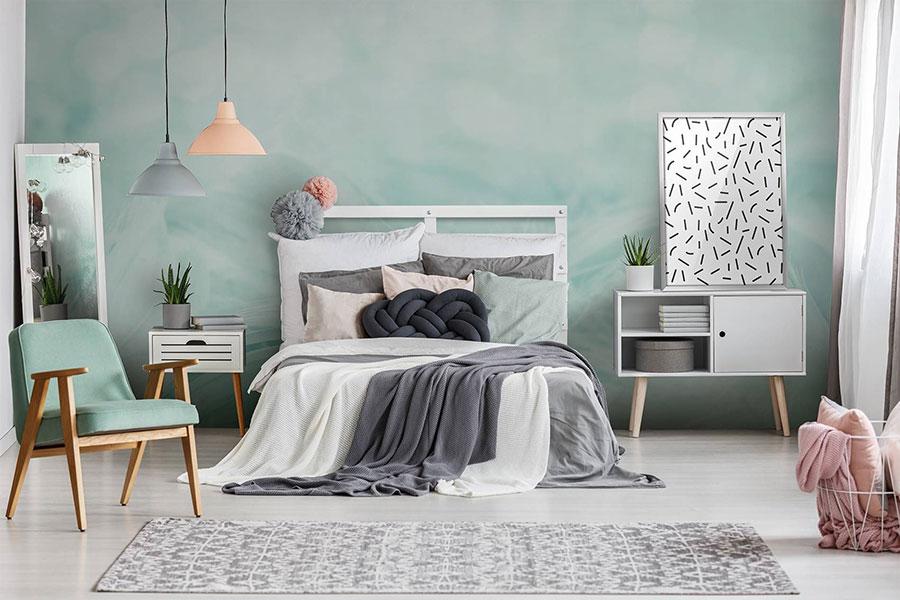 Idee per una camera da letto verde acqua n.1