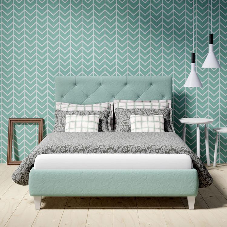 Idee per una camera da letto verde acqua n.2