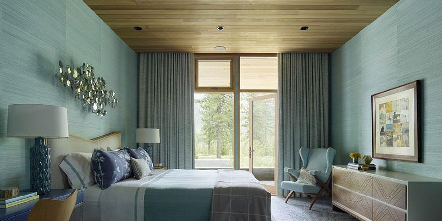 Idee per una camera da letto verde acqua n.3