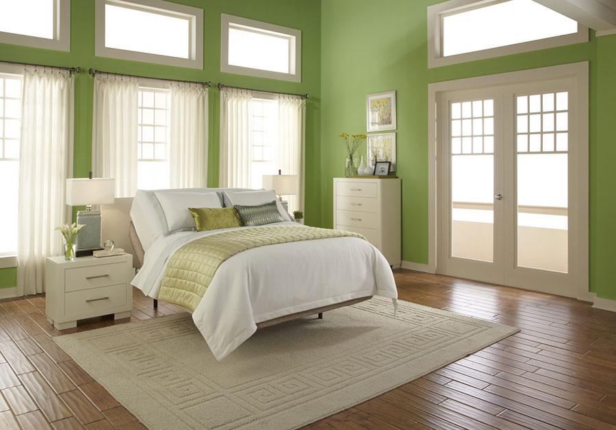 Idee per una camera da letto verde mela n.2