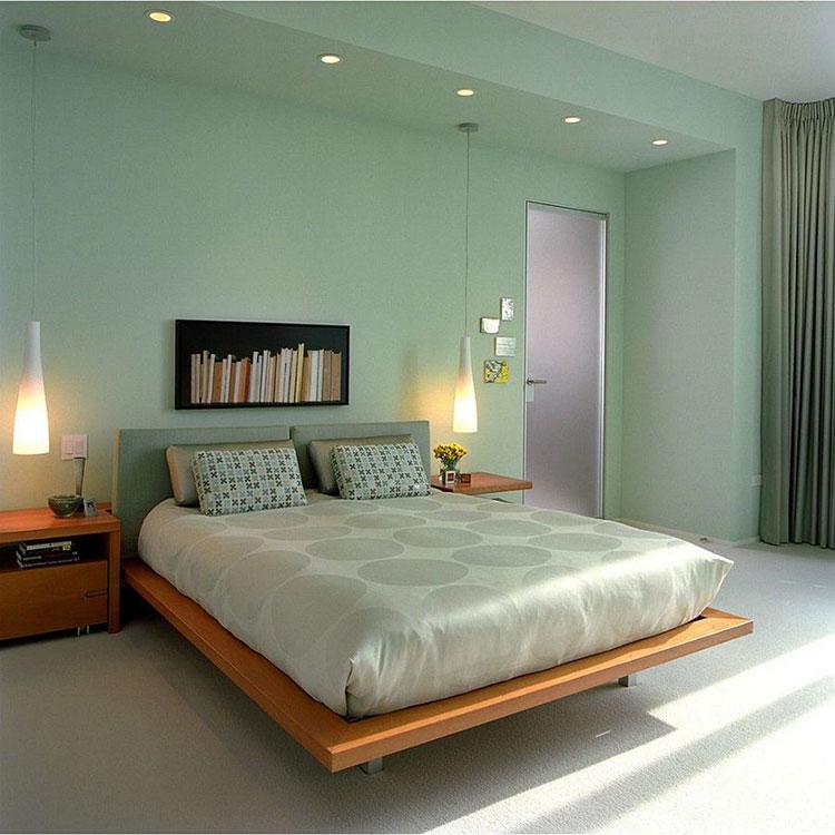 Idee per una camera da letto verde menta n.2