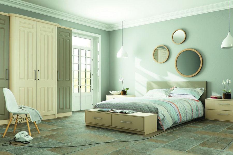 Idee per una camera da letto verde menta n.3