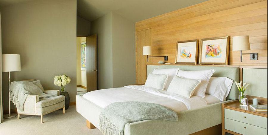 Idee per una camera da letto verde oliva n.2